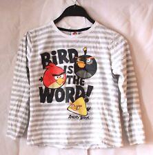 Angry Birds Pullover langärmliger Kinder Jungen Pulli Weiß Größe 140
