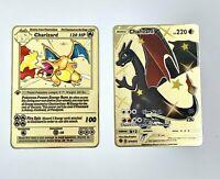 2x Pokemon Charizard V 79 Secret Rare Full Art Gold Metal Card Base Set 1st Ed