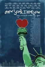 NEW YORK, I LOVE YOU Movie POSTER 27x40 Bradley Cooper Shia LaBeouf Justin