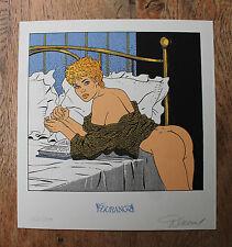 RENAUD : Jessica Blandy - ex-libris sérigraphié Durango - Numéroté & signé