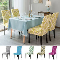 Dining Chair Cover Delicate Printed Soft Home Chair Stretch Slipcover Removable