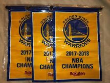 New Set Of 3:Golden State Warriors 2017-2018 Championship Banners Plus Free Gift