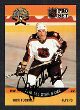Rick Tocchet #374 signed autograph auto 1990-91 Pro Set Hockey Trading Card