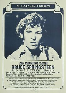 """Reproduction  """"An Evening with Bruce Springsteen"""" Poster, Various Sizes"""