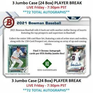 Luis Patino Padres 2021 Bowman Jumbo 3 CASE 24 Box PLAYER BREAK