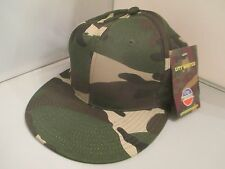 "CAMOUFLAGE MILITARY CAP - 100% COTTON (SZ. LARGE  7 1/2"") BY CITY HUNTER 6 PANEL"