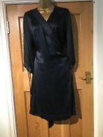 Stella McCartney For H&M Women's Long Sleeve Wrap Dress Silk Blue Size 42