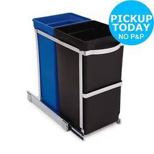 simplehuman 35 Litre Recyle Bin in Cabinet - Multicoloured
