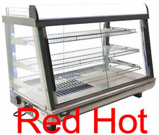 """Fma Omcan 39999 Dw-Cn-0136 Commercial 35"""" Hot Food Warmer Glass Display Case"""