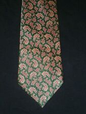 Stefano Ricci Green Red & Gold Paisley Ancient Madder Silk Tie, MI Italy