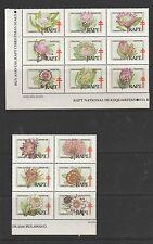 Zimbabwe Rapt labels, 1993 Flowers, 15 vals in 2 blocks,  UM/MNH