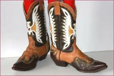 DON QUIJOTE Boots Vintage Cow Boy Tout Cuir T 9 / T 43 BE