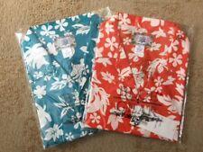Blue Gear Mens Hawaiian Shirt Size XL , Red / Flower & Blue Flower (2 shirts)
