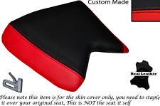 Rojo Y Negro Custom encaja Cagiva Mito 125 cuartos Frontal De Cuero Funda De Asiento