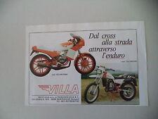 advertising Pubblicità 1983 MOTO VILLA 125 DAYTONA/ENDURO