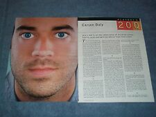 2000 TV Host Carson Daly Vintage Interview Article