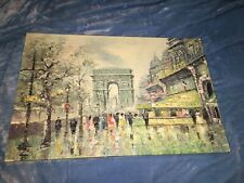 Large Vintage Signed C. Rosselle Paris Oil Painting