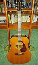 YAMAHA FG-160 Acoustic Guitar Tan Label Taiwan with case
