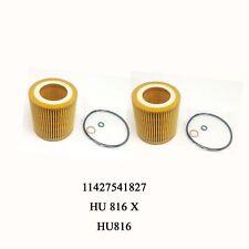 2PCS New  For BMW Oil Filter E82 E88 E90 E92 E93 E60 09106015 HU816X 11427541827