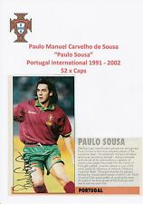 PAULO SOUSA PORTUGAL INTERNATIONAL ORIGINAL HAND SIGNED MAGAZINE PICTURE CUTTING