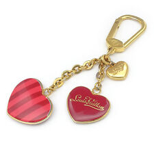 Auth Louis Vuitton Porte Cles Coeur Rayures Key Chain Pomme d'amour Used F/S