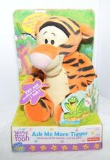 Nib Fisher Price Plush 2000 Winnie The Pooh Tiger Ask Me More