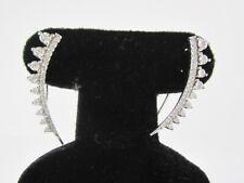 ESTATE 10K WHITE GOLD DIAMOND EARRINGS  0.36CT GIA $825.00