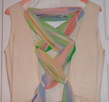 LOUIS FERAUD FAB OFF WHITE JUMPSUITS, WITH BEAUTIFUL SCARF IN A  BACK