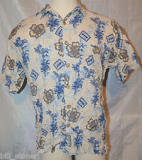 ME SPORT Large Shirt Short Sleeve Collared Floral Hawaiian Button Front Rayon