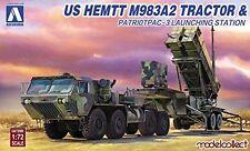 Aoshima Bunka Kyozai 1/72 US Army HEMTT M983 & Patriot PAC3 launchers Plast