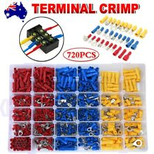 720PCS Assorted Insulated Electrical Wire Terminal Crimp Port Connectors Kit AU