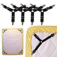 4Pcs/set Triangle Bed Mattress Sheet Clips Grippers Straps Suspender Fastener