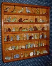 wade figurines wades oak display case plexiglass front
