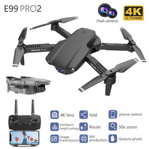 E99 RC Drone HD 4K FPV Wide Angle HD Dual Cameras RC Quadcopter Dron Toys Gifts