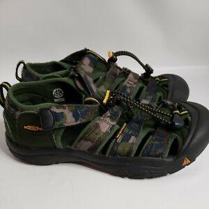 Keen Green Camo Newport Waterproof H2 Big Kids Size 5 Sandal