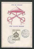 VATICAN MK 1963 PAPST JOHANNES POPE PAPA MAXIMUMKARTE MAXIMUM CARD MC CM d1377