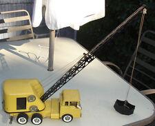 VINTAGE STRUCTO PRESSED STEEL MOBILE CRANE 1961 FORD C600