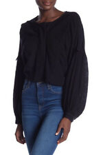 Free People Womens Day Dreaming OB843548 Shirt Long Sleeve Black Size XS