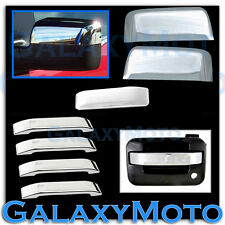 04-08 Ford F150 Chrome Half Mirror+4 Door+Tailgate Handle lever only Cover Trim