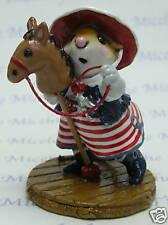 Wee Forest Folk CLIPPITY-CLOP, WFF# M-290a,  Limited Edition PATRIOTIC 2009