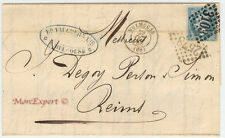 France cover 1866 From Mulhouse to Reims *** Rare