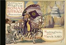 Harriet Brown OFFICIAL PROGRAM Woman SUFFRAGE PROCESSION 1913 right to vote BIO