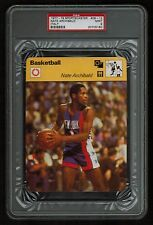 PSA 9 NATE ARCHIBALD 1977 Sportscaster Basketball Card #09-12 ITALY