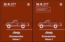 1986 1987 1988 Jeep Comanche Truck Shop Manual Laredo Chief Pioneer Eliminator