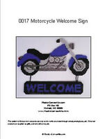 Motorcycle Welcome Sign- Plastic Canvas Pattern or Kit