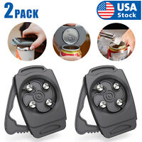 2PCS USA Topless Can Opener Bar Tool Safety Manual Opener Household Kitchen Tool