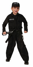 Kids S.W.A.T. Police Costume Cop Child Size Large 12-14