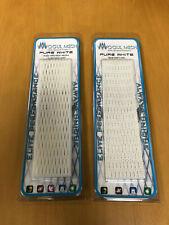 2 New Mogul Mesh Pure White 15Mm Semi Soft Feel Wax Infused Lacrosse Mesh