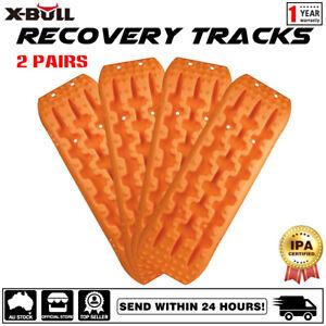 X-BULL Recovery tracks 10T Sand Mud Snow Grass 4WD Accessory 2Pair Orange Gen2.0