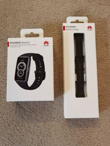 HUAWEI Band 6 Fitness Tracker / Smartwatch. 2021 UK Model. Black & Spare Band